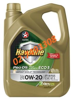 น้ำมันเครื่องเบนซิน ฮาโวลีน® โปรดีเอส™ ฟลูลี่ ซินเธติก อีโค่5 SAE 0W-20