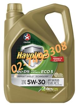 น้ำมันเครื่องเบนซิน ฮาโวลีน® โปรดีเอส™ ฟลูลี่ ซินเธติก อีโค่5 SAE 5W-30