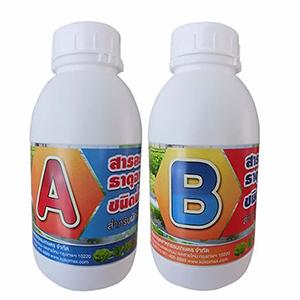 ธาตุอาหาร A และ B สำหรับพืชผักไร้ดิน ผักไฮโดรโพนิกส์ Hydrophonic (ชนิดน้ำ)