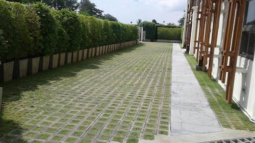 บล็อกปลูกหญ้ารุ่นโมเดิร์นสี่เหลี่ยมจัตุรัส 6