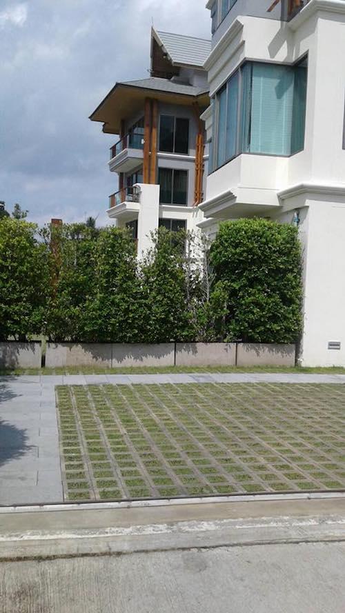 บล็อกปลูกหญ้ารุ่นโมเดิร์นสี่เหลี่ยมจัตุรัส 7