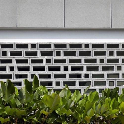 บล็อกช่องลมลายสี่เหลี่ยมผืนผ้า ขนาด 39x10x9 cm 3