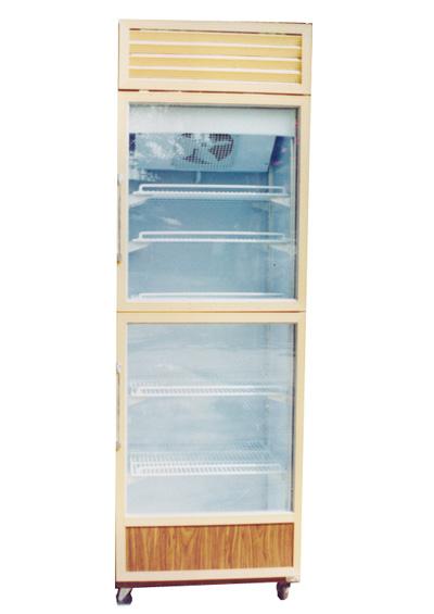 ตู้แข่เย็น No forst แบบ 2 ประตู ล่าง-บน (ลายไม้)