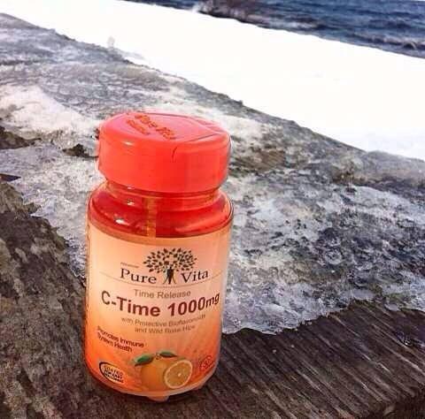Pure Vita C-Time 1000 mg เพียว ไวต้า ซีไทม์ วิตามินซี จาก แคนนาดา ขนาด 30 เม็ด