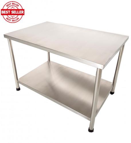 โต๊ะสแตนเลส 2 ชั้น