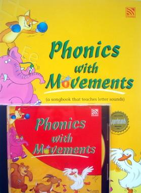 หนังสือสอนออกเสียงPhonicsพร้อม CD PHONICS WITH MOVEMENT(CD+ BOOK)