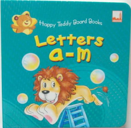 หนังสือภาพ Happy Teddy Board Book Letters a-m