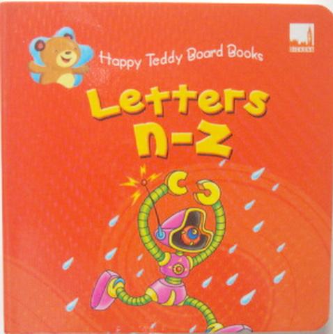 Happy Teddy Board Book Letters n-z