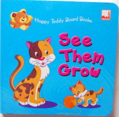 หนังสือภาพ  Happy Teddy Board Book Look They Grow