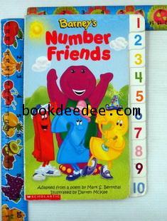 นิทานเด็ก บอร์ดบุ๊ค Barney Number Friends