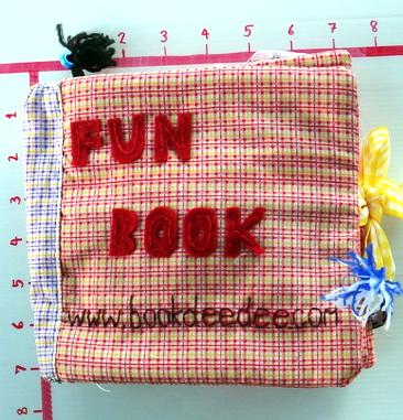 หนังสือผ้า FUN BOOK FOR GIRL ฝึกทักษะต่างๆก่อนเข้าเรียน