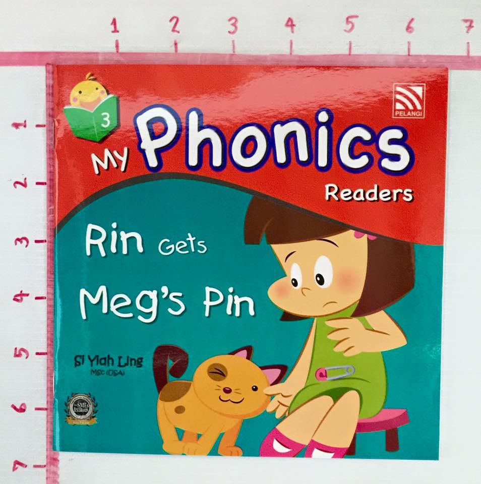 หนังสือเด็ก My Phonics Readers No3.Rin Gets Meg\'s Pin