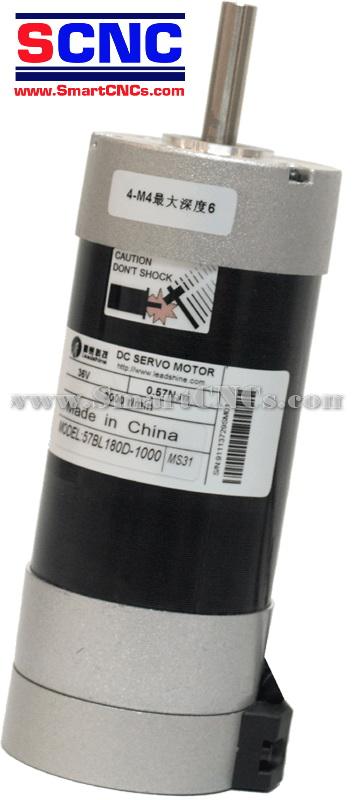 ดีซีเซอร์โวมอเตอร์ไร้แปลงถ่าน รุ่น 57BL180 180W,3000 rpm,Rate Torque 0.57 N.m-1.71 N.m