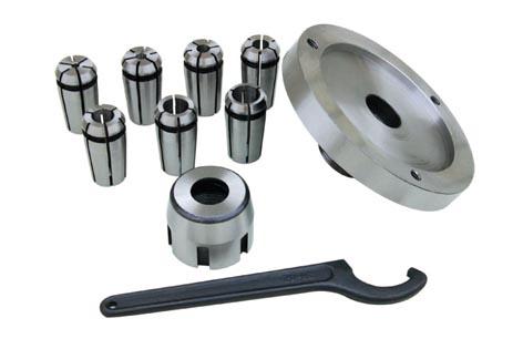 10149 Mill chuck set(metric) Chuck dia. 4, 6, 8, 10, 12, 14, 16mm
