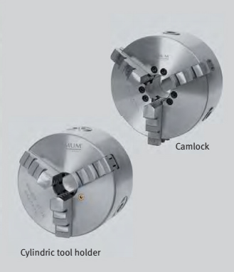 3440287 Three-jaw lathe chuck centrically clamping Ø 80 mm