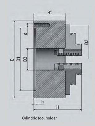3442710 Three-jaw lathe chuck centrically clamping Ø 100 mm 1
