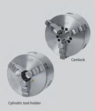 3442760 Three-jaw Camlock lathe chuck, centrically clamping ø 160 mm