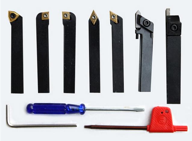 3441011 Lathe tool kit HM 8 mm,7 pcs.