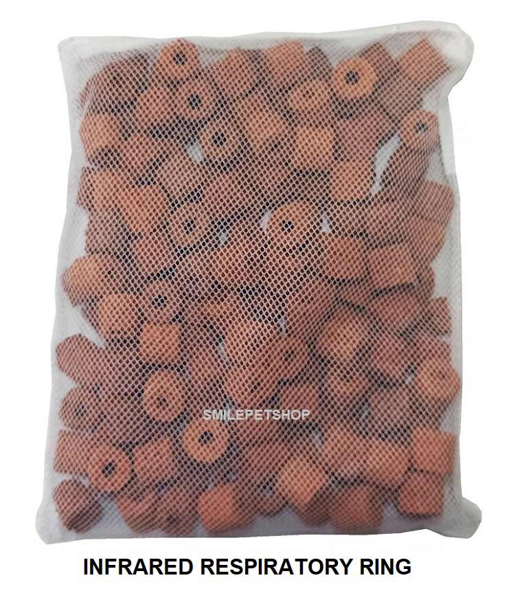 Aqua Media Bio Ceramic ring 800 g. สีน้ำตาล