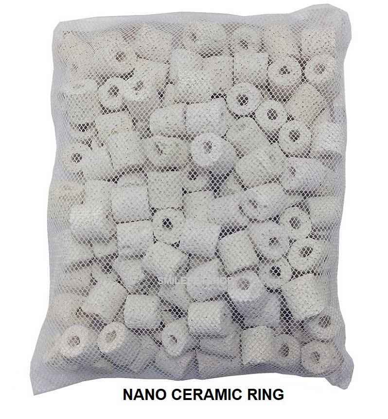 Aqua Media Bio Ceramic ring 800 g. สีขาว