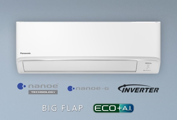 (เงินสด = 15,900 ฿) พานาโซนิค Healthy nanoe Inverter R32 รุ่น CS-KU13WKT/CU-KU13WKT ขนาด 11,818 btu