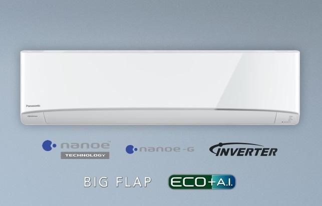 (เงินสด = 30,900 ฿) พานาโซนิค Healthy nanoe Inverter R32 รุ่น CS-KU24WKT/CU-KU24WKT ขนาด 20,764 btu