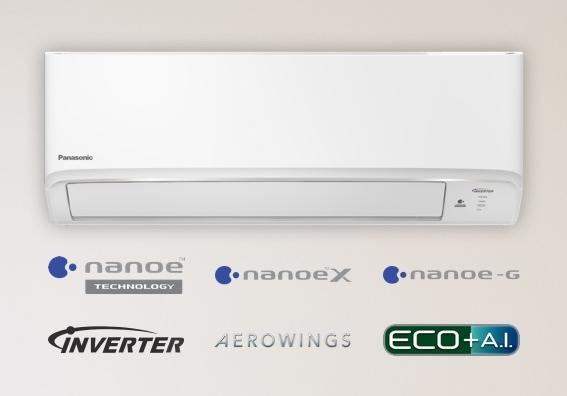 (เงินสด = 24,900 ฿) พานาโซนิค Deluxe nanoe Inverter R32 รุ่น CS-XKU18WKT/CU-XKU18WKT ขนาด 17,209 btu