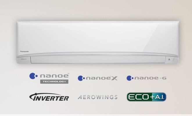 (เงินสด = 33,000 ฿) พานาโซนิค Deluxe nanoe Inverter R32 รุ่น CS-XKU24WKT/CU-XKU24WKT ขนาด 20,764 btu