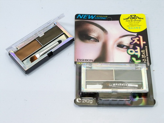 eyebrow powder nice shop double shape color พร้อมพู่กัน หนัก43(เบอร์1).รหัส K20-1