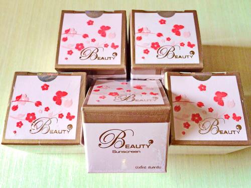 บิวตี้ทรี ซันสกรีน ครีม Beauty Sunscreen Cream 5g.หนัก43 รหัส TM94