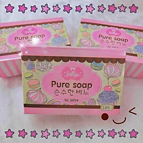 สบู่เจลลี่ หัวเชื้อผิวขาว100 pure soap jelly ราคาส่งถูกๆ 100g. W.118 รหัส SP38