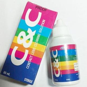 น้ำยาล้างคอนแทคเลนส์ CC 60 ml ราคาส่งถูกๆ w.89 รหัส BE600
