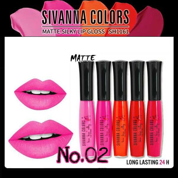 Sivanna Colors Matte Silky Lip gloss SH1161 No.02 ราคาส่งถูกๆ W.25 รหัส L9