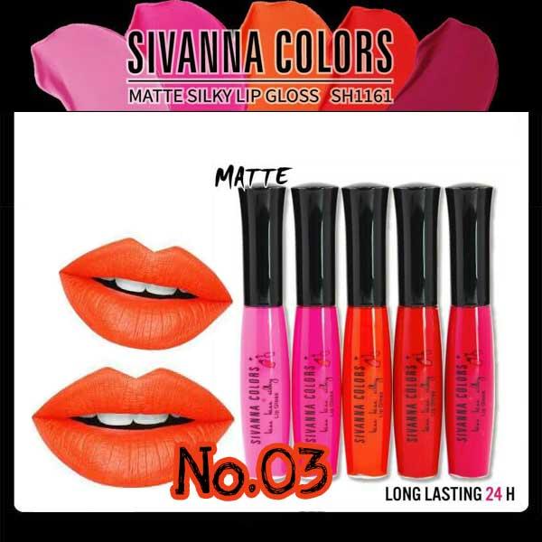 Sivanna Colors Matte Silky Lip gloss SH1161 No.03 ราคาส่งถูกๆ W.25 รหัส L10