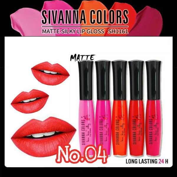 Sivanna Colors Matte Silky Lip gloss SH1161 No.04 ราคาส่งถูกๆ W.25 รหัส L19