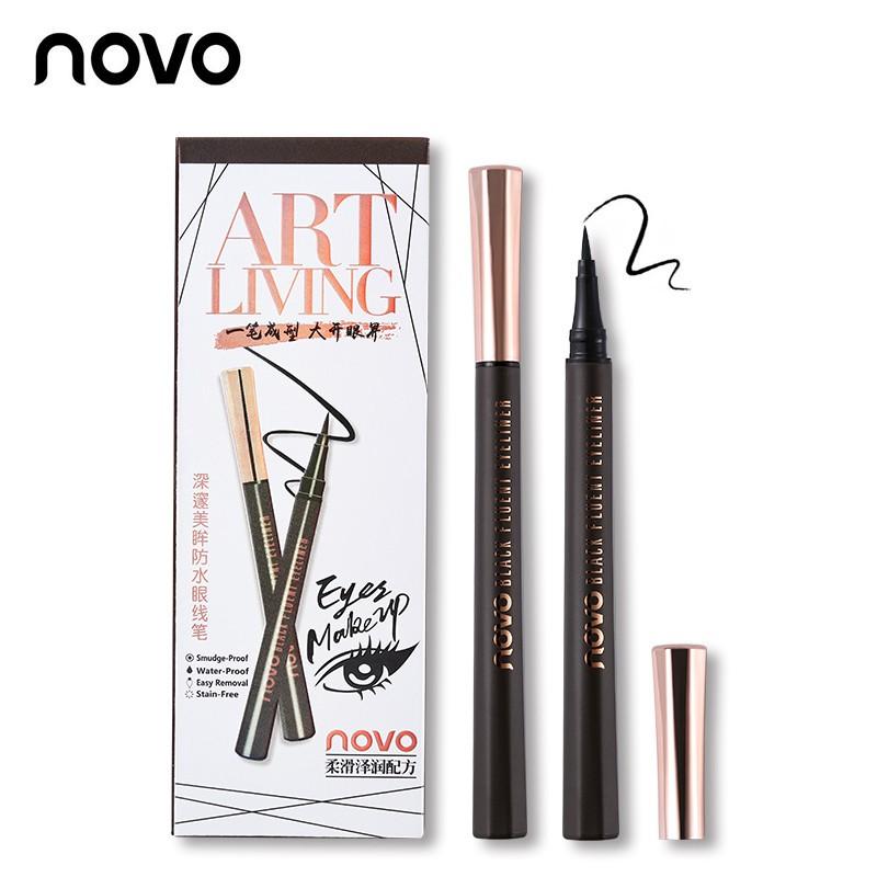Novo ART LIVING Black Fluent Eyeliner อายไลน์เนอร์ ชนิดปลายพู่กัน สีดำ ราคาส่งถูกๆ W.35 รหัส AL54