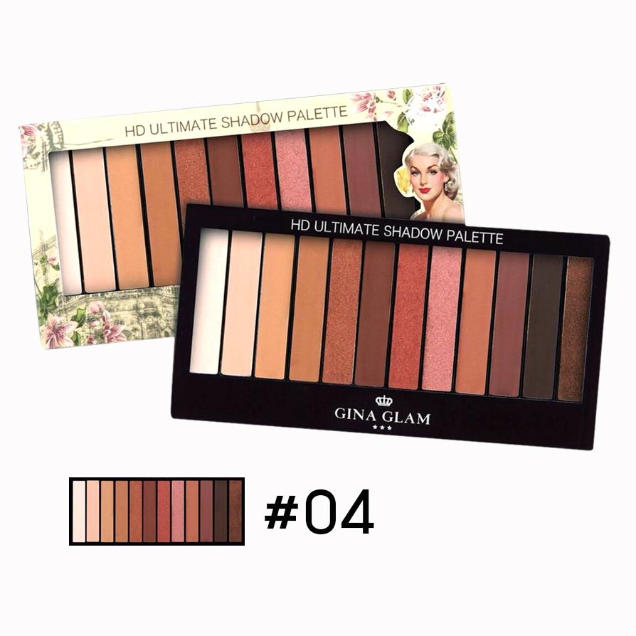 GINA GLAM ULTIMATE Shadow Palette G-82 อายแชโดว์พาเลท 12 สี No.04 ราคาส่งถูกๆ w.95 รหัส ES165