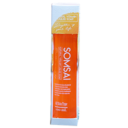 Natural vitamin soap สบู่ส้มใส quot;สบู่วิตามินซีสด quot; ราคาส่งถูกๆ (100ml.)W.140 รหัส fc26
