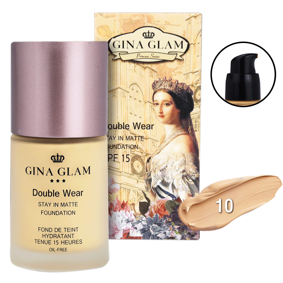 Gina Glam Double wear stay in matte foundation No.10 ราคาส่งถูกๆ W.145 รหัส F282