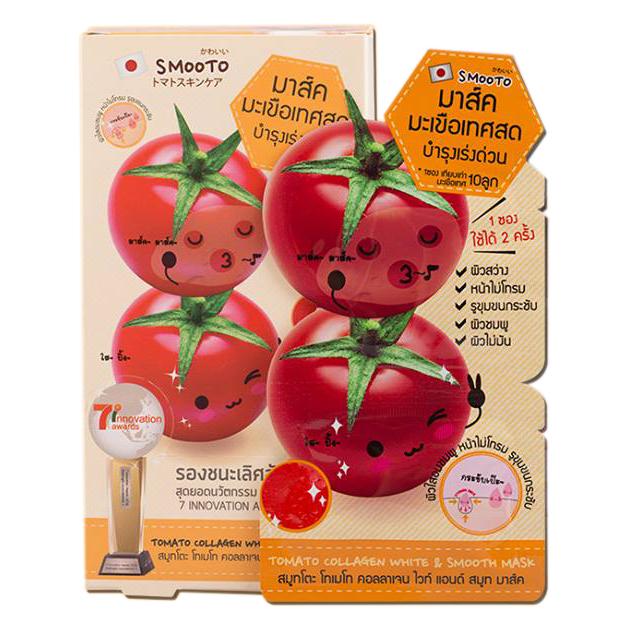 Smooto มาร์คมะเขือเทศสด Tomato Collagen Mask (ขายยกกล่อง) ราคาส่งถูกๆ W.105 รหัส S29