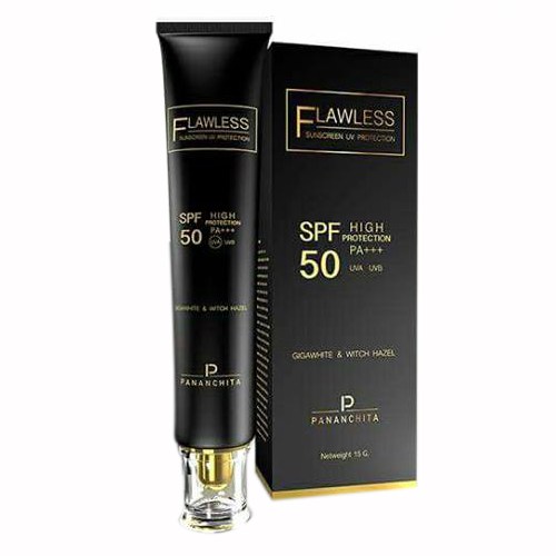 Pananchita Flawless sunscreen UV Protection Gigawhite Witch Hazel ราคาส่งถูกๆ W.55 รหัส SF39