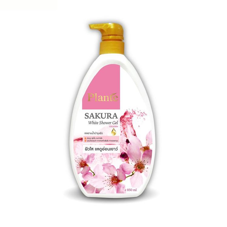 Plante Sakura White Shower Gel แพลนเต้ ซากุระ ไวท์ ชาวเวอร์ เจล 850 มล.W.955 รหัส SP131-3
