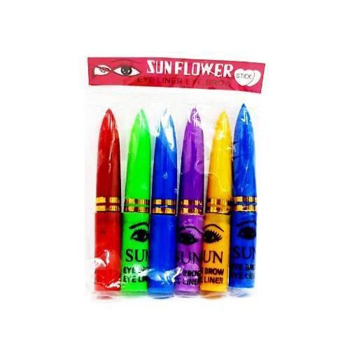 ดินสอเขียนขอบตาแขก SUN FLOWER EYE LINER EYE BROW - สีดำ (แพ็คX6แท่ง) ราคาส่งถูกๆ W.35 รหัส AL99