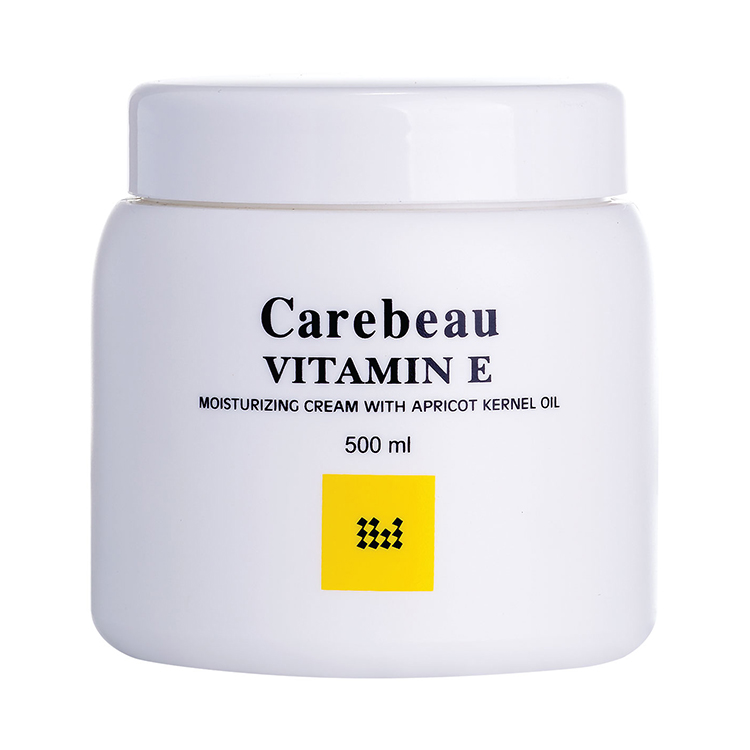 Carebeau Vitamin E Body Cream สูตรอ่อนโยน ผิวใส ออร่า 500 g ราคาส่งถูกๆ W.555 รหัส BD613