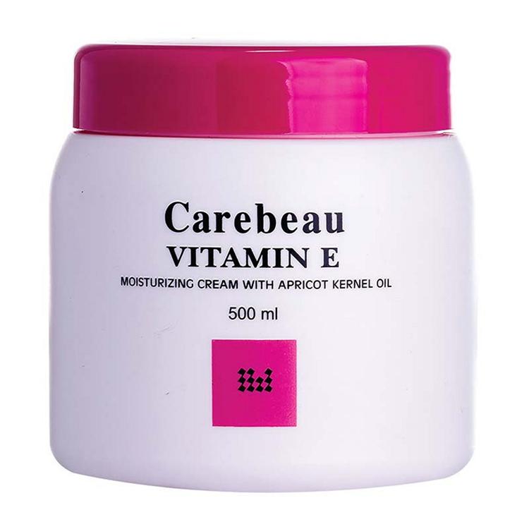 Carebeau Vitamin E Body Cream สูตรเข้มข้นขาวอมชมพู 500 g. ราคาส่งถูกๆ W.555 รหัส BD200