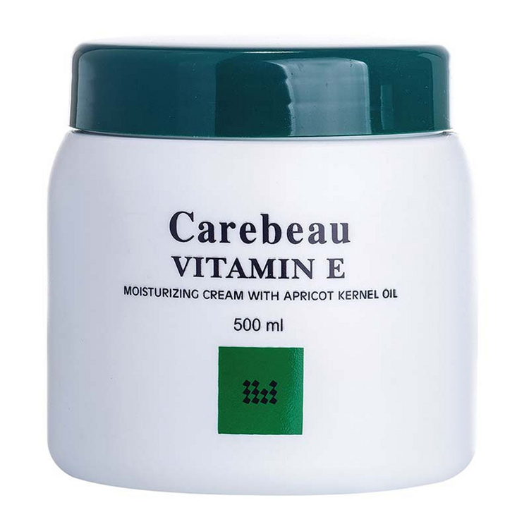 Carebeau Vitamin E Body Cream สูตรเข้มข้น ผิวเรียบเนียน 500 g. ราคาส่งถูกๆ W.555 รหัส BD614