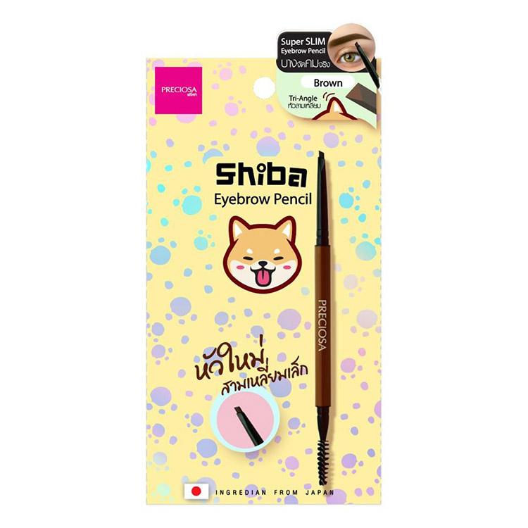 Preciosa Shiba Tri-Angle Slim Eyebrow Pencil No.01 Brown ราคาส่งถูกๆ W.35 รหัส K218