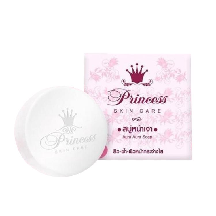 สบู่หน้าเงา Princess skin care Aura Aura Soap 80 g. ราคาส่งถูกๆ W.100 รหัส FC115