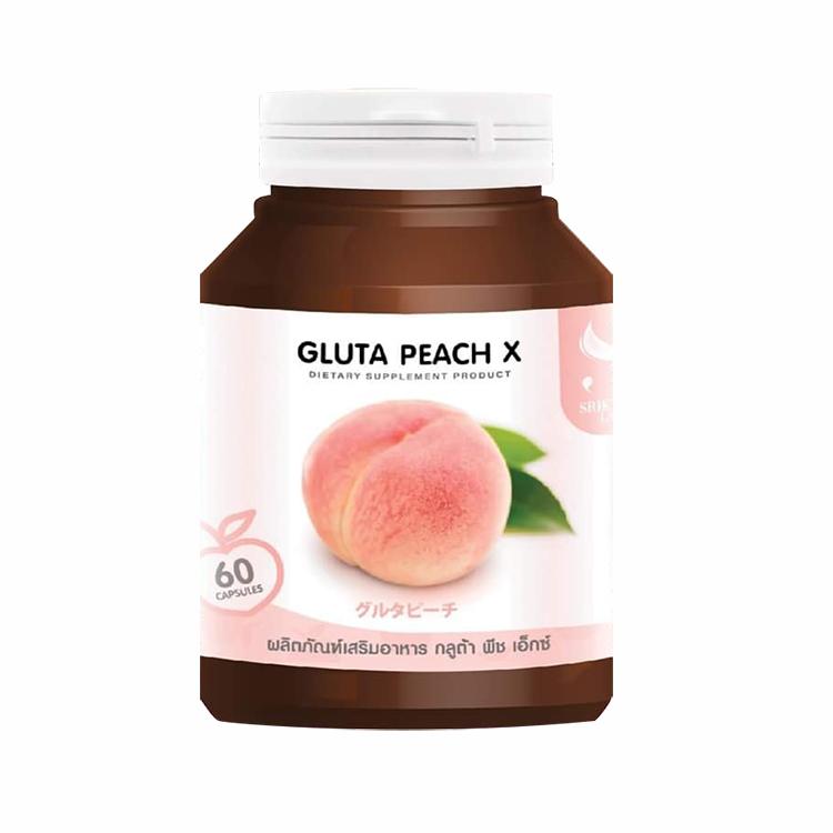 Gluta PEACH X กลูต้าพีช เอ็กซ์ 60 แคปซูล ราคาส่งถูกๆ W.85 รหัส GU162