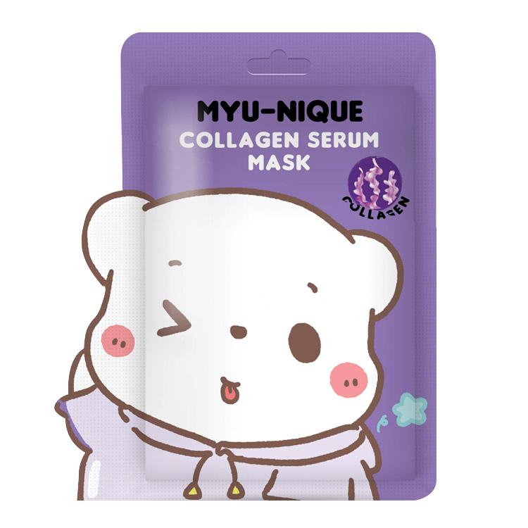 MYU-NIQUE COLLAGEN SERUM MASK (มาส์กหน้าหมีม่วง) 25 g. W.75 รหัส Fm88